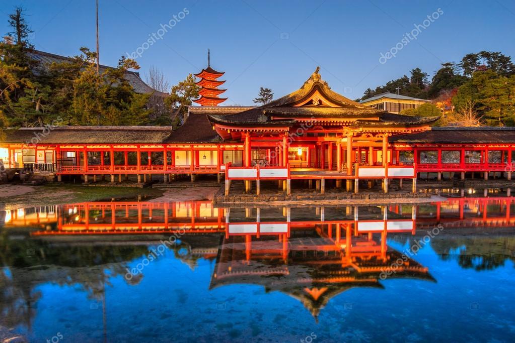 Miyajima Shrine at Sunset, Miyajima, Japan загрузить