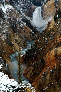 Lower Yellowstone Water Fall Gorge Canyon