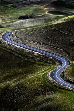 Curved Road Roadway Hills Hilly