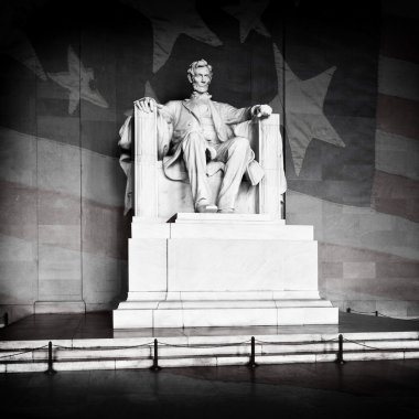 Lincoln Memorial and American Flag