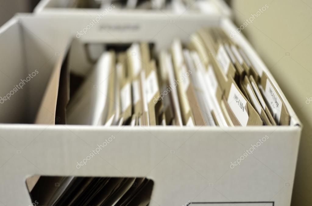 Box of Files Organization