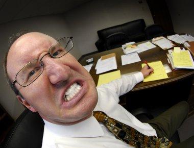 Mean Boss in Office