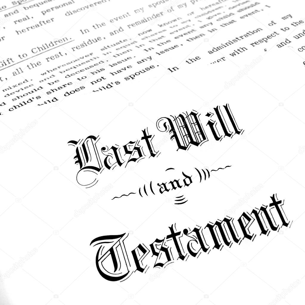 Testamento y última voluntad — Fotos de Stock © eric1513 #71645553