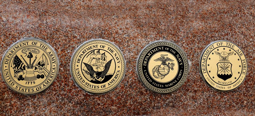 Symbols of USA Military Army Navy Airforce Marines