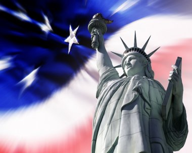 Liberty for All American Flag and Statue of Liberty
