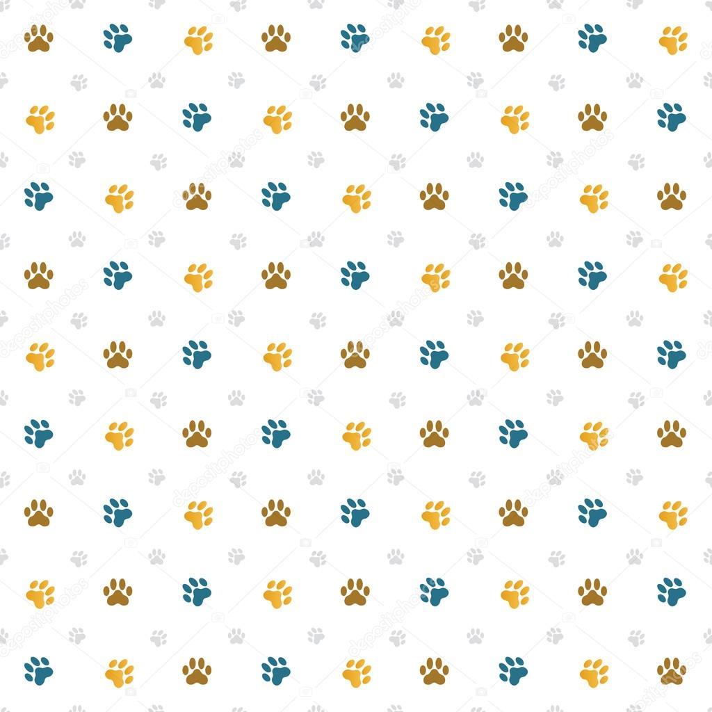 Vector: dog paw prints wallpaper | Paw