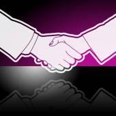 üzleti kézfogás grafikus