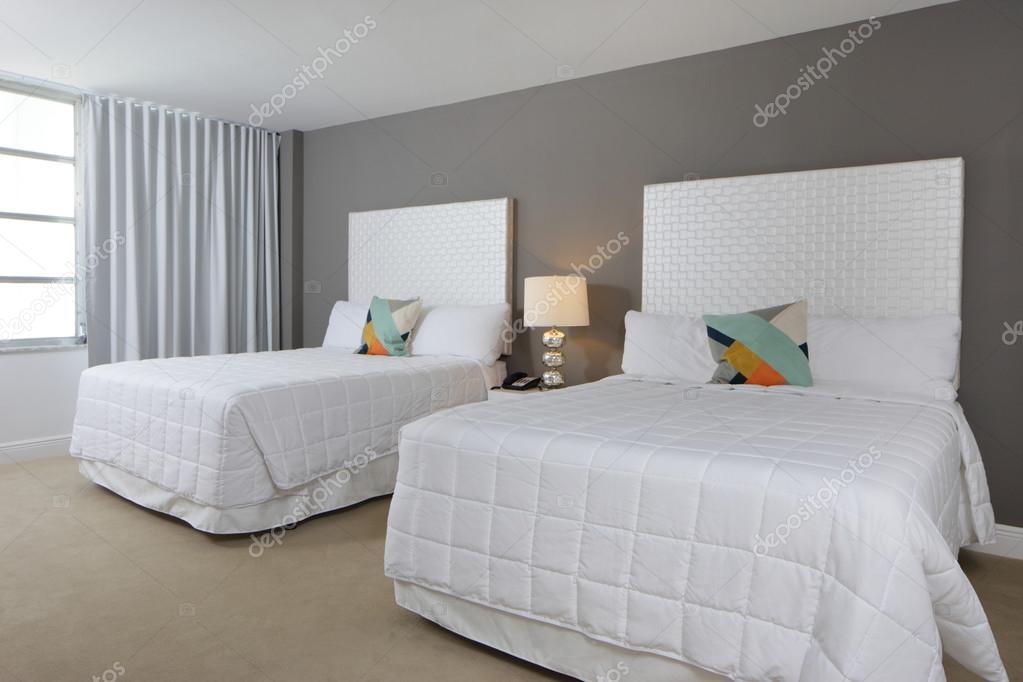 Schlafzimmer Mit Zwei Betten U2014 Stockfoto