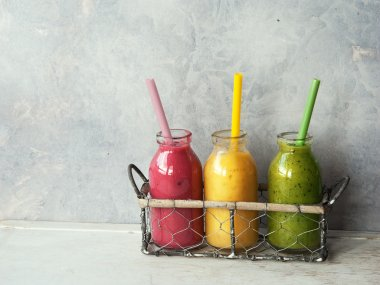 Fresh blended smoothies