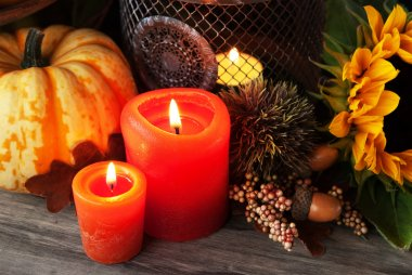 Autumn pumpkin decor