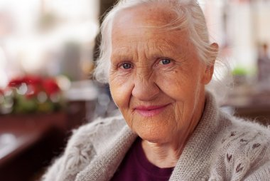 Smiling elderly woman