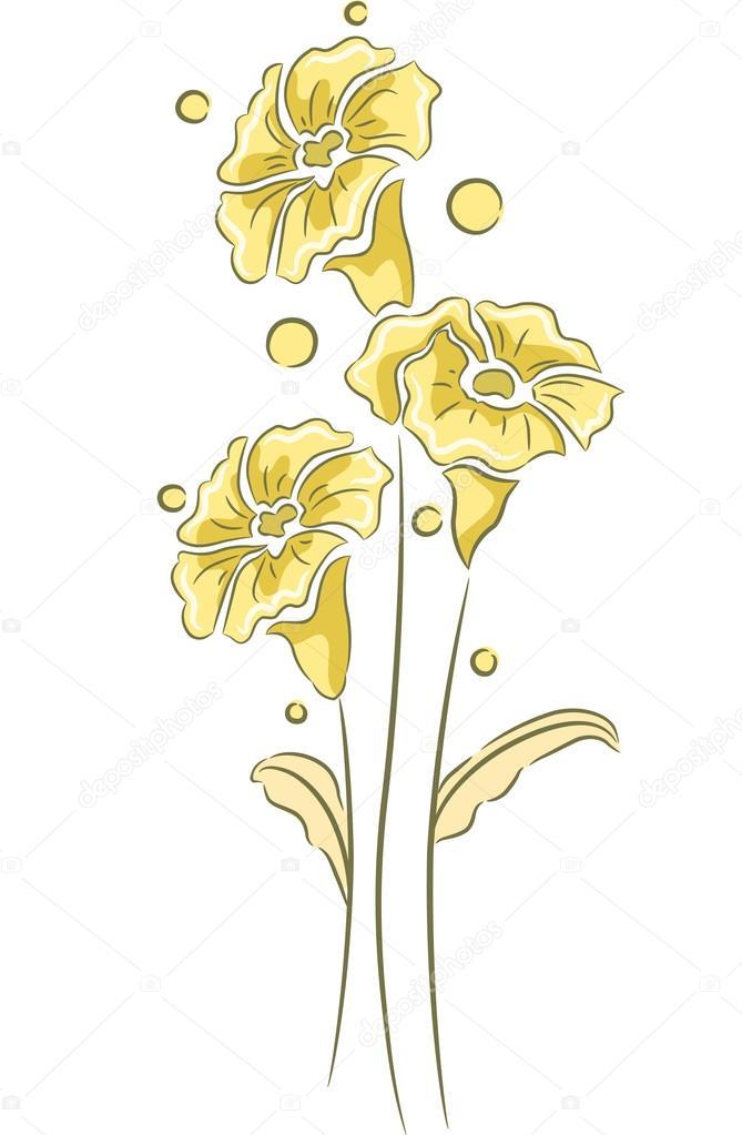 花のデザイン イラスト ストック写真 Lenmdp 58948057