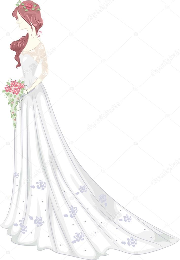 Shabby Chic Wedding Gown — Stock Photo © lenmdp #58949329
