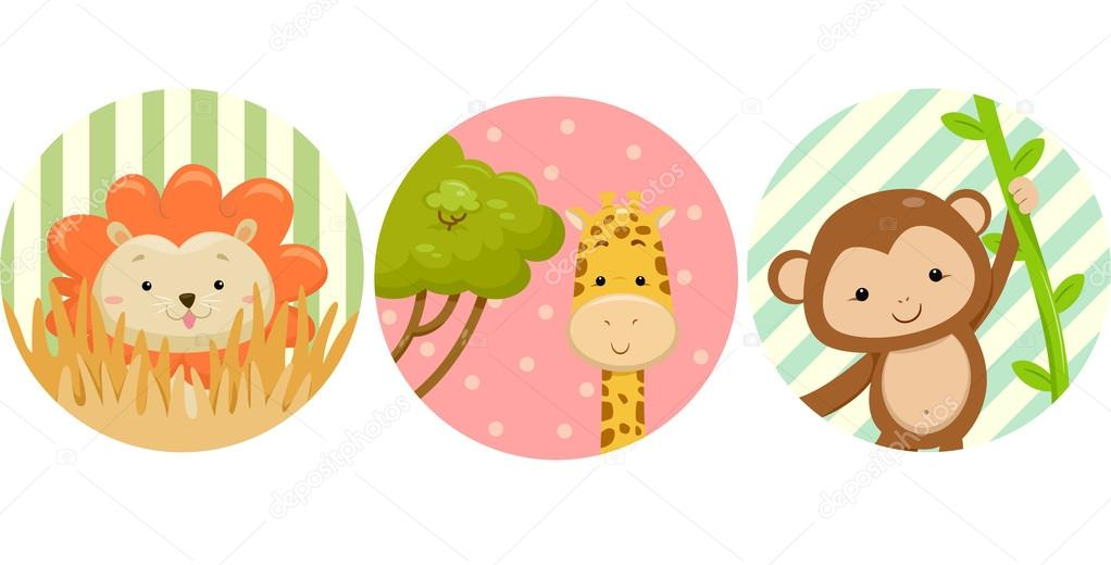 photo relating to Printable Safari Animals referred to as Safari pets printable Safari Pets Stickers Inventory