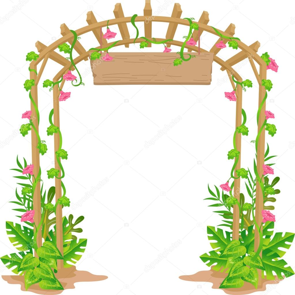 Wooden Arch With Blank Sign Stock Photo 169 Lenmdp 58949501