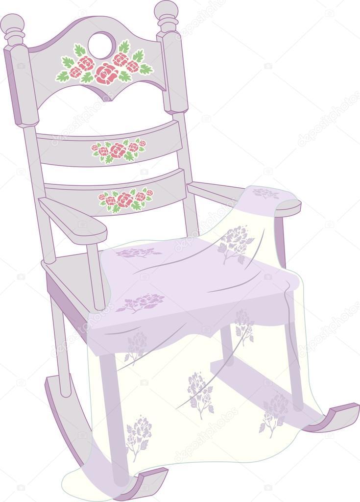 Sedie A Dondolo Shabby Chic.Shabby Chic Sedia A Dondolo Foto Stock C Lenmdp 58949573