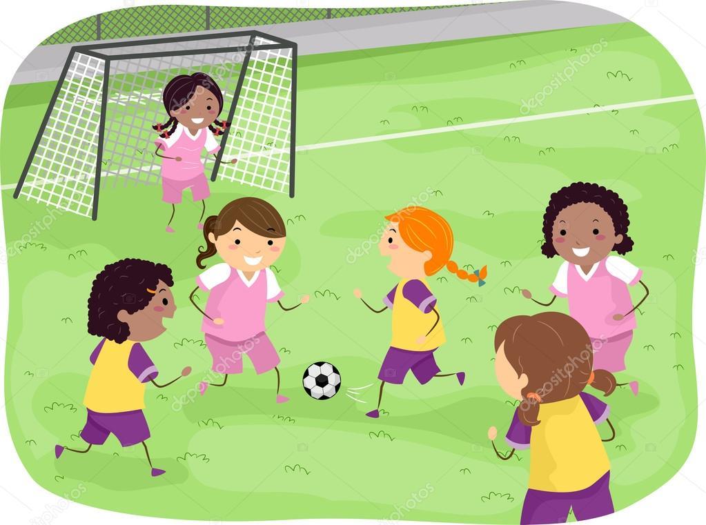 Imágenes: Niños Y Niñas Jugando Futbol