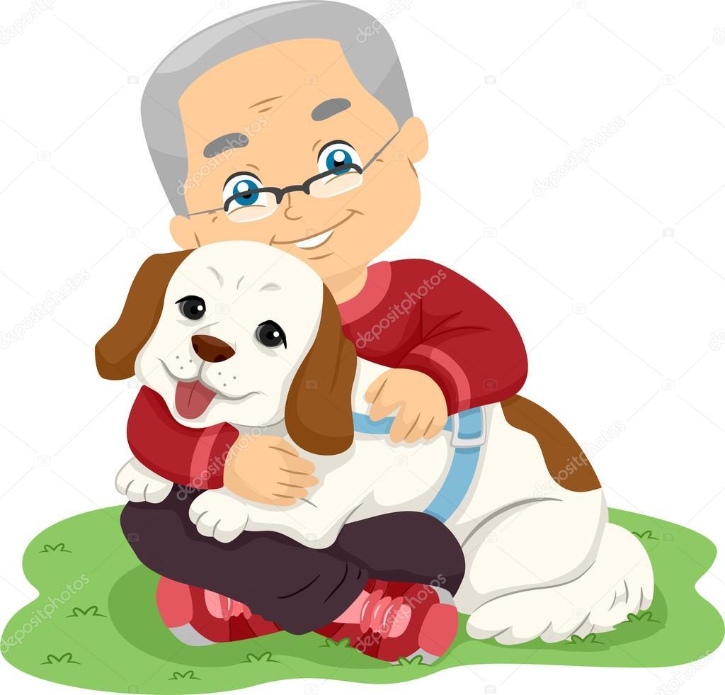 personne g e treindre chien photographie lenmdp 94051072. Black Bedroom Furniture Sets. Home Design Ideas