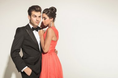 Picture of a young elegant couple posing
