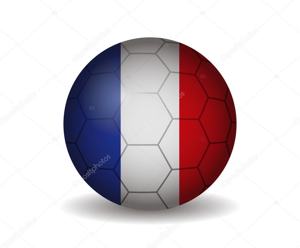 Франция футбольный мяч — Векторное изображение © noche0  116885224 e3600e89840