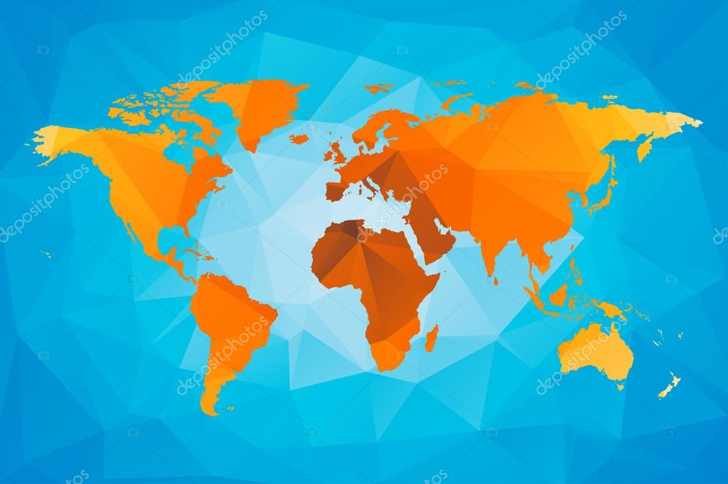 Low poly world map stock vector noche0 120905302 low poly world map stock vector gumiabroncs Image collections