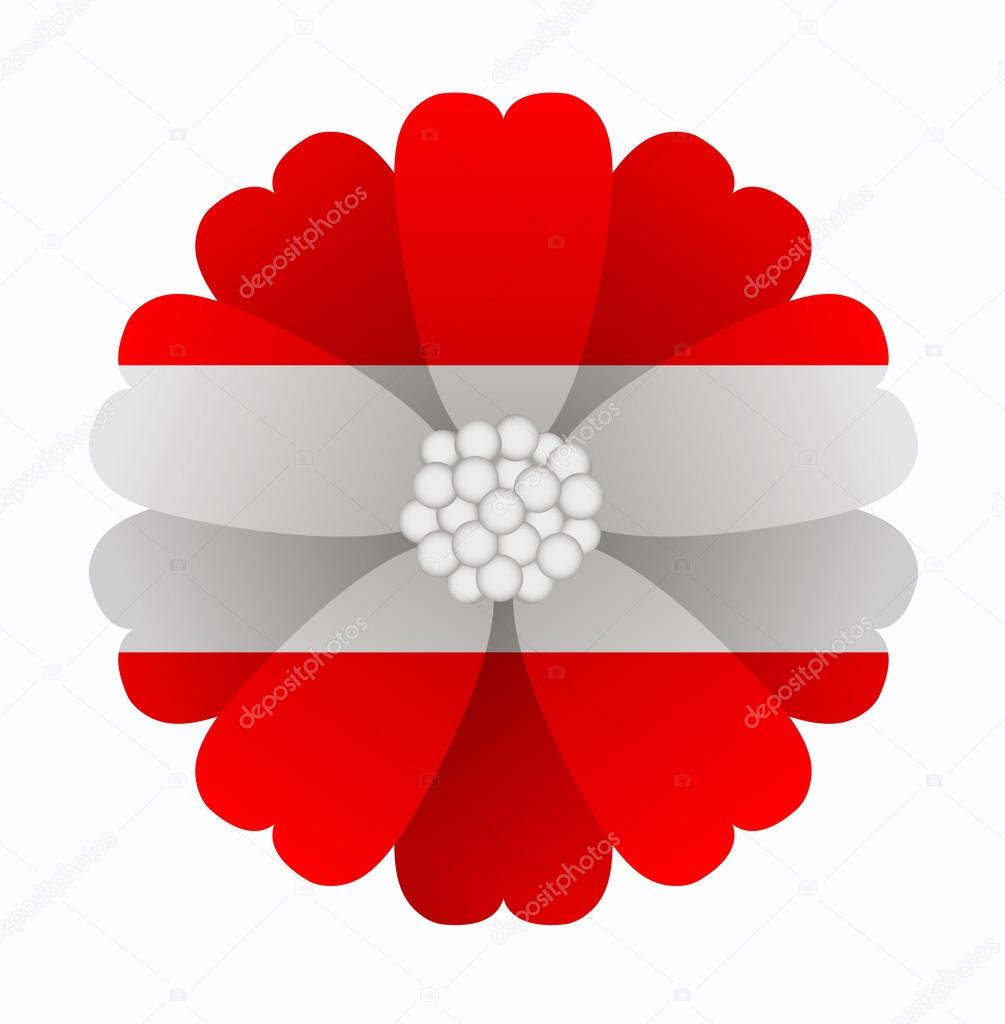 Flag Flower Austria Stock Vector Noche0 62092161