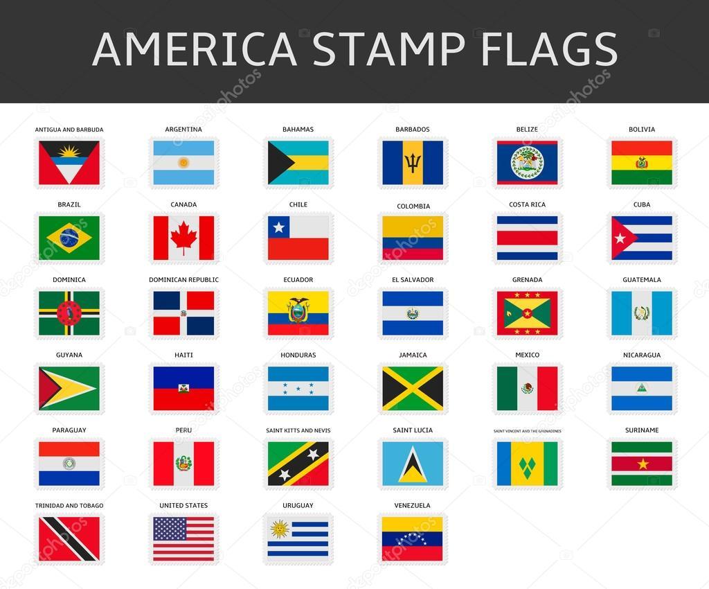 Vectores De Banderas De Estados Unidos Sellos
