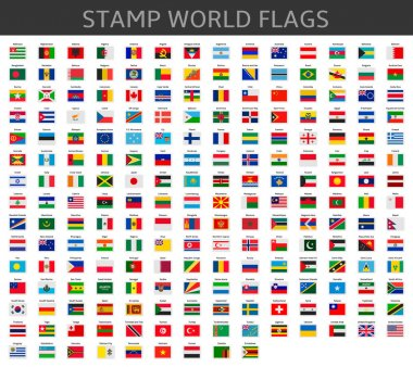 stamps world flags