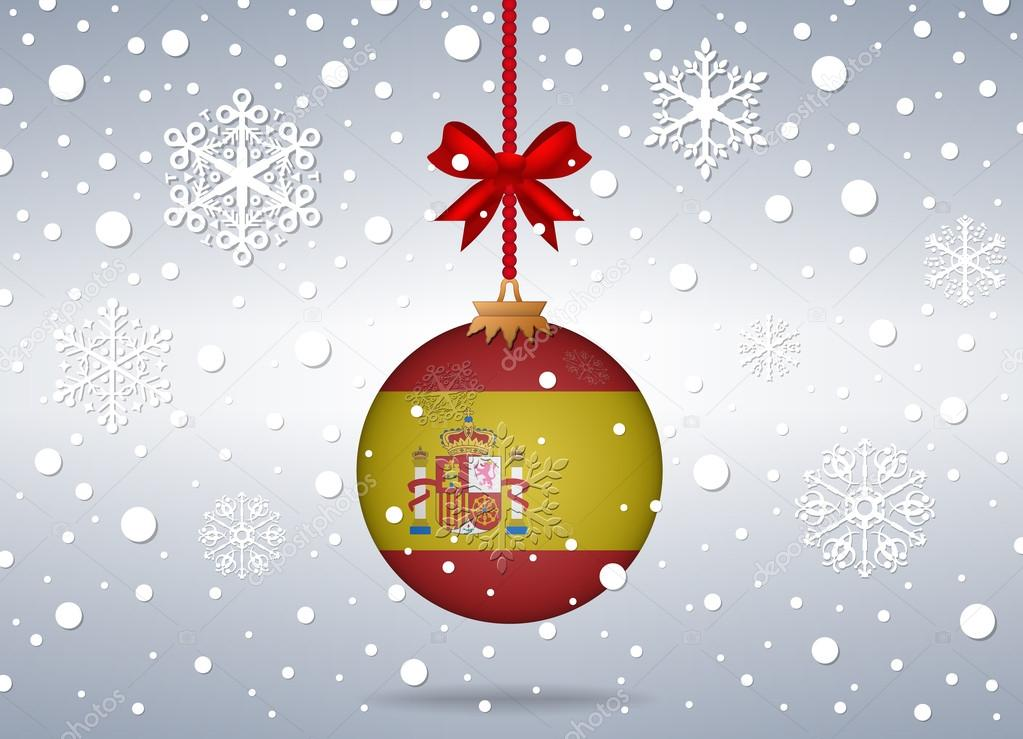 Weihnachten Hintergrund Spanien — Stockvektor © noche0 #75895397