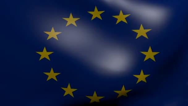 Vlajka Evropské unie silný vítr