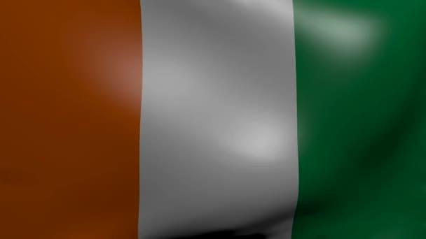 Ivory coast strong wind flag
