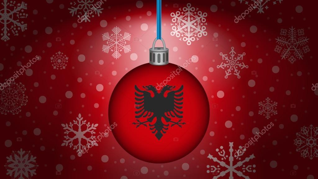 Auguri Di Natale In Albanese.Natale In Albania Vettoriali Stock C Noche0 93655166