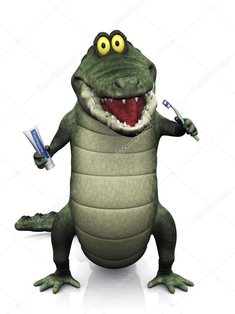 Dessin anim crocodile se brosser ses dents photographie sarah5 62954515 - Dessin anime crocodile ...