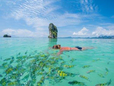woman snorkelling in Krabi Thailand