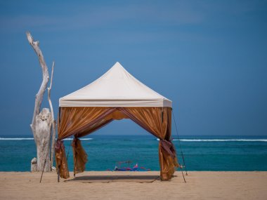 canopy on Kuta beach in Bali