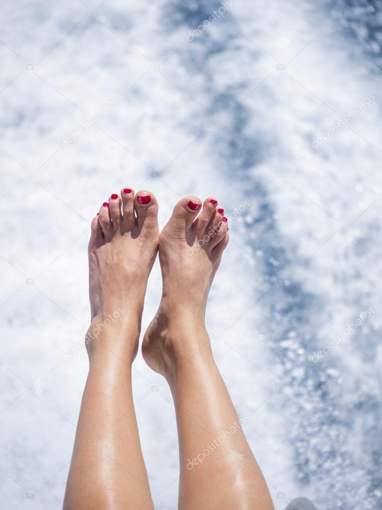 Sexy women with pretty feet