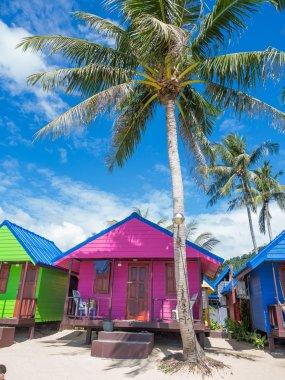 Tropical resort panorama in Koh Samui