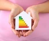 Papier-Haus mit Energie-Effizienz-Diagramm