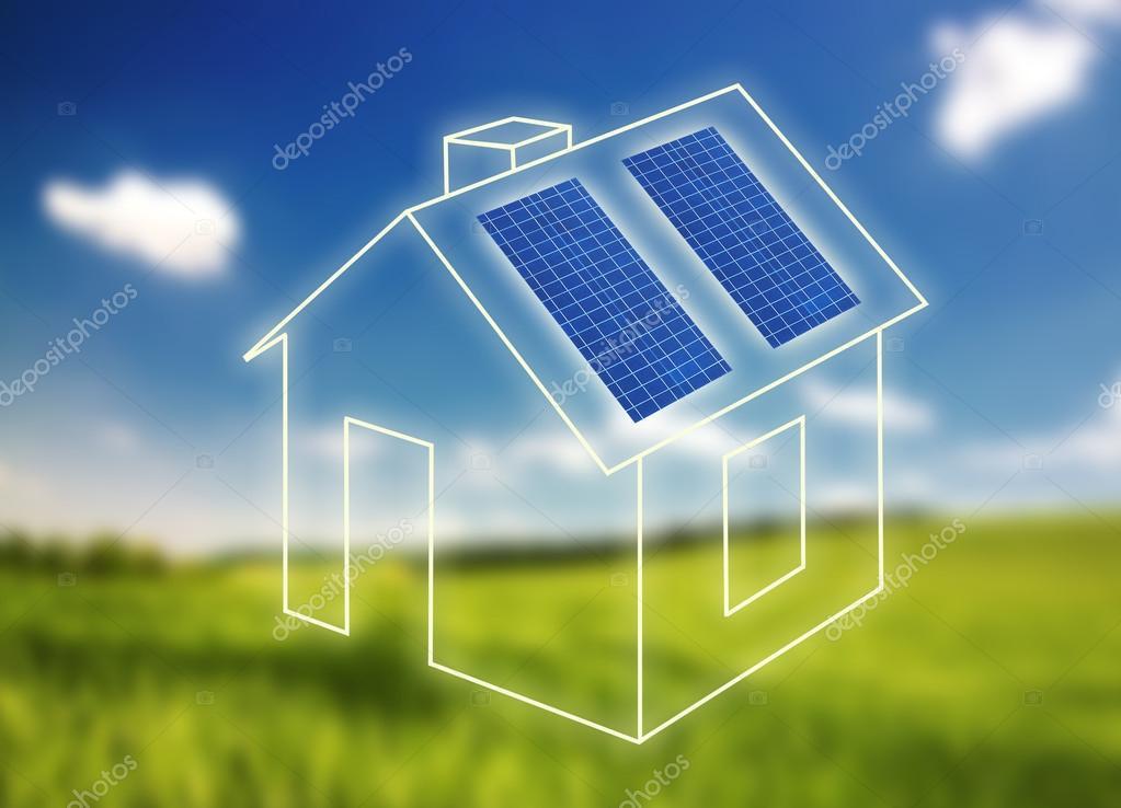 Casa del bastidor con paneles solares — Foto de stock © joruba75 ...