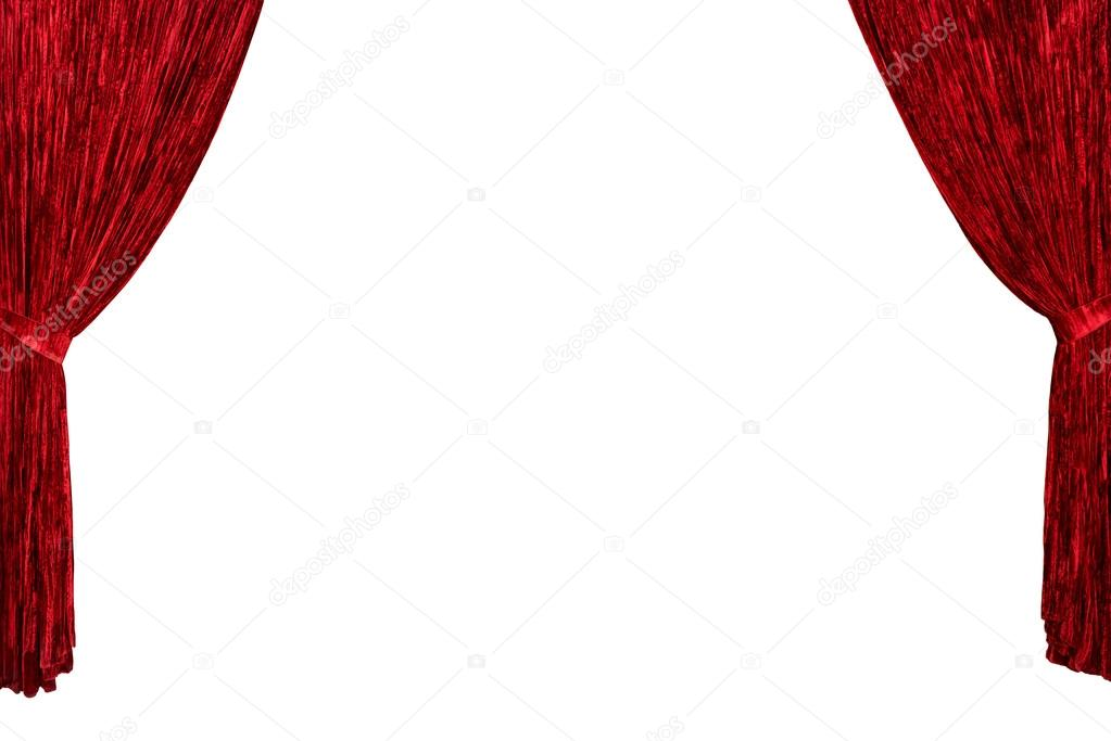 Red Theater Curtain Background Stock Photo