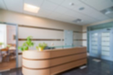 Common office building interior blur background