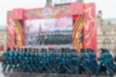Kızıl Meydan Moskova'da geçit arka plan bulanıklık