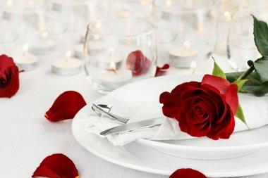 Romantic Candle light Table Setting