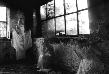 Ghost of the young lady in abandoned building