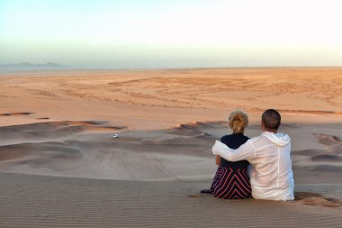 Romantic couple in Namibia