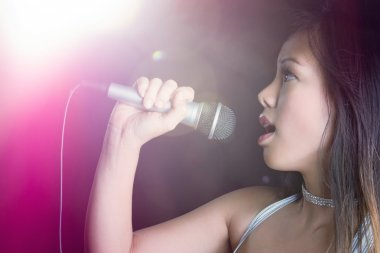 Woman Microphone Singing