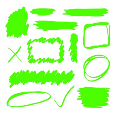 Green Highlighter Elements