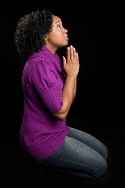 Woman on Knees Praying