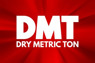 DMT - Dry Metric Ton acronym, business concept background