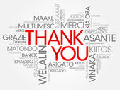 Photo Thank You Word Cloud vector background, all languages